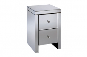 Florence 2 Drawer Mirrored Bedside
