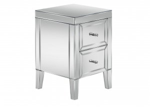 Barcelona 2 Drawer Mirrored Bedside