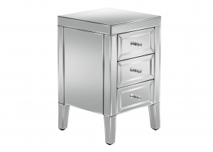 Barcelona 3 Drawer Mirrored Bedside