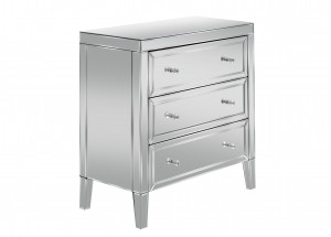 Barcelona 3 Drawer Mirrored Chest