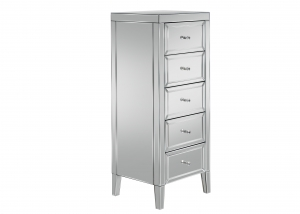 Barcelona 5 Drawer Mirrored Tallboy