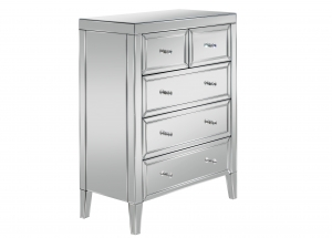 Barcelona 3 + 2 Drawer Mirrored Chest