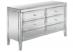 Barcelona 6 Drawer Mirrored Chest